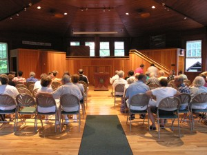 People seated in McCathran Hall