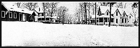 Grove Avenue, looking north; house on left is 108; house on right is 111 (93-29)