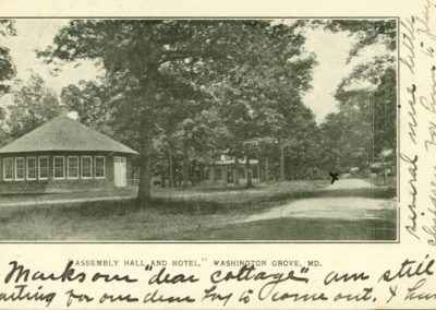 Assembly Hall (now the Town Hall) and Hotel, Washington Grove.